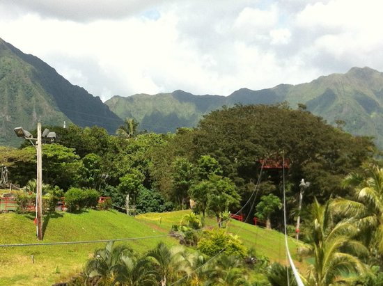 Bay View Mini-Putt And Zipline : Beautiful clear day in Kaneohe
