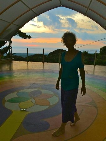 Dragonfly Ranch - Healing Arts Center: the lovely Barbara in the labyrinth