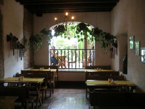 Casa Escobar Restaurant : Interior Dining Room - Looking out to exterior patio