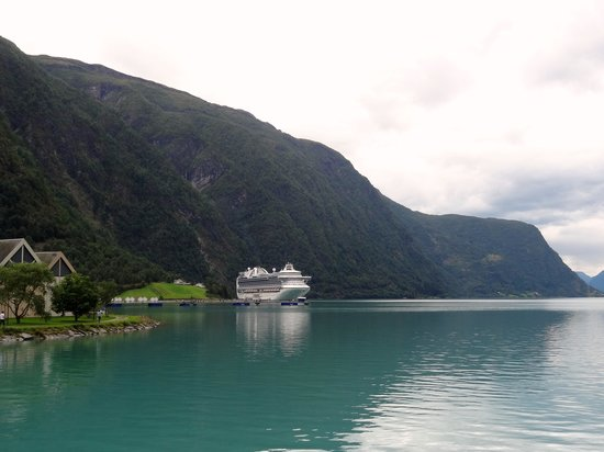 Luster Municipality, Norway: Emerald Princess in Skjolden