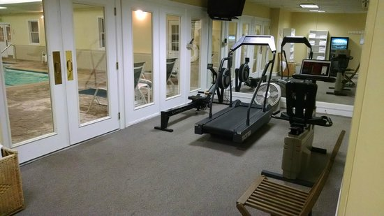 Palmer House: indoor pool also has exercise machines