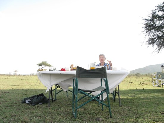 Leleshwa Camp : Breakfast in the bush the elegant way!