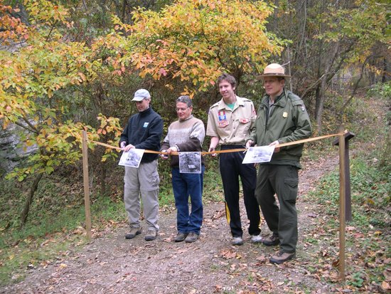 C&O Canal - Paw Paw Tunnel : Opening the trail