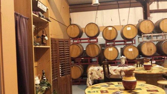 Island Winery: Barrel Room