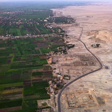 Sindbad Hot Air Balloons: Ramesseum from the air