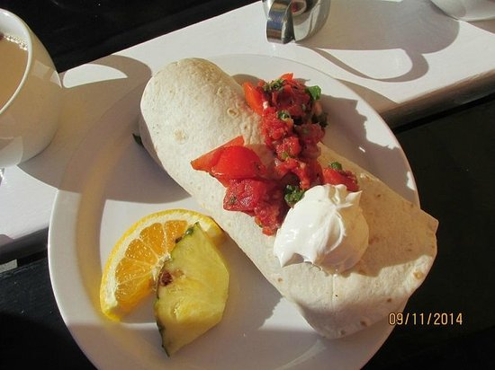 The breakfast burrito at cafe stephanie