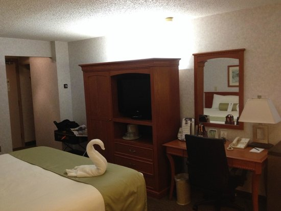 Carriage House Inn: Our room (King bed)