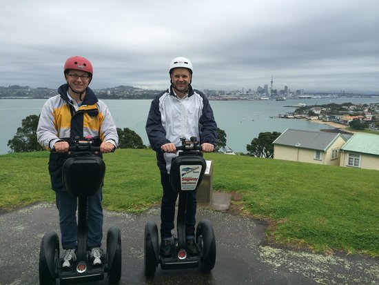MagicBroomstick (Segway) Tours: View from Mt Victoria. Steep climb!!