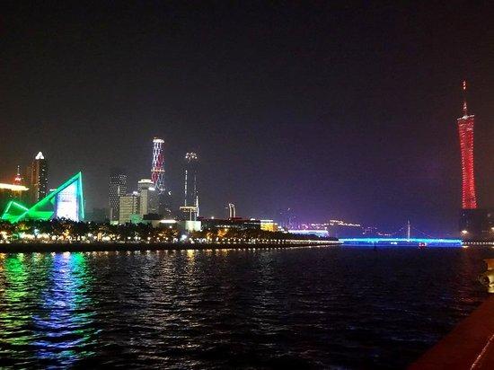 Xinghai Concert Hall : В панораме с реки Чжуцзян