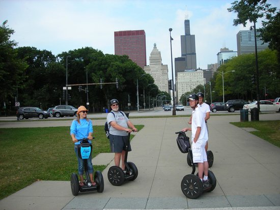 Steve's Segway Tours: Heading off on segways