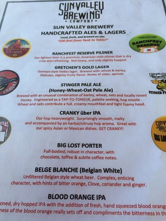 Sun Valley Brewing Company: Brew list from August