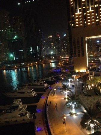 Address Dubai Marina: Marina night view from nearby bar called Cargo