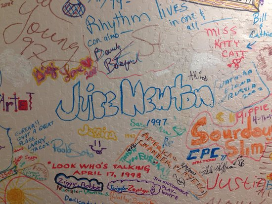 Eureka, NV : Signed wall of past performers.