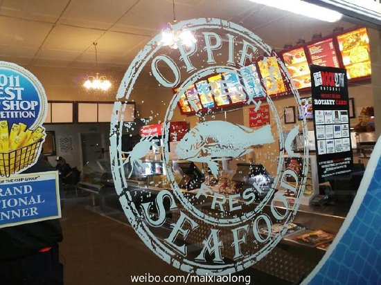 Oppie's Fish & Chips : Store window