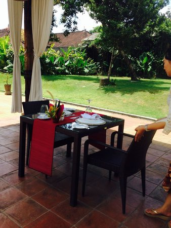 Plataran Canggu Resort & Spa: Private dining after the cooking class