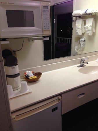 Anastasia Inn : Le lavabo est a l entrée, original