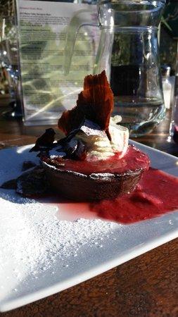 Ohinemuri Estate Winery and Restaurant: Choc tart and berry couli