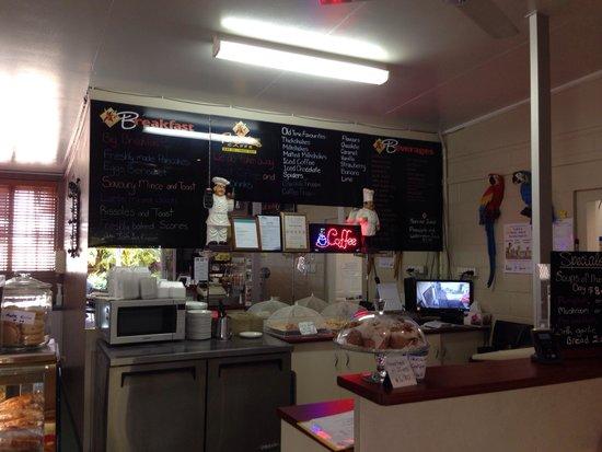 Rocklatino Caffe: Inside counter