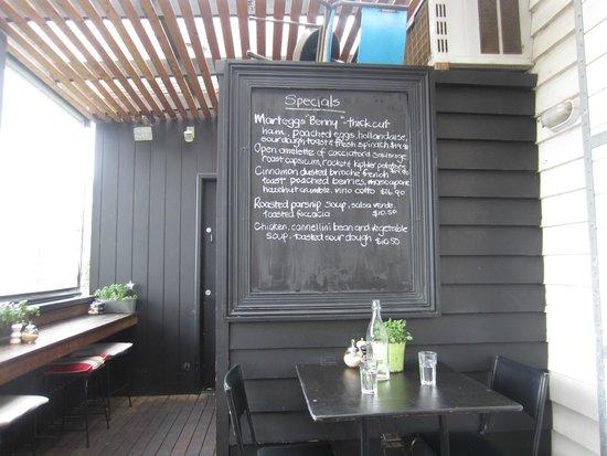 Mart 130: Special menu board