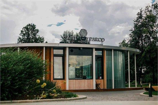Caffe del Parco: Вид кафе из парка Музеон