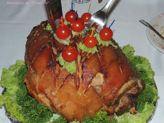 أوتيل ريبينسكايا: Блюдо от шеф-повара