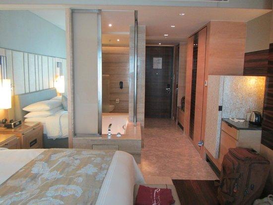جيه دابليو ماريوت هوتل نيو دلهي إيروستي: Sliding doors of bathroom and the room-entrance
