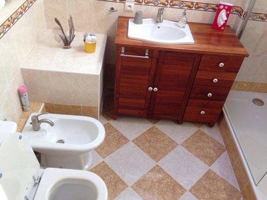 Les Arums de Sanguinet: Upstairs bathroom