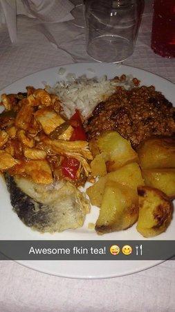 هوتل جالا بلاشيديا: meal one of the nights which was lovley :)