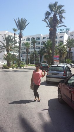 Marhaba Beach Hotel: front ov hotel