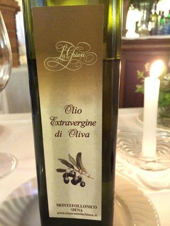 La Chiusa Restaurant: Haugepresstes Öl