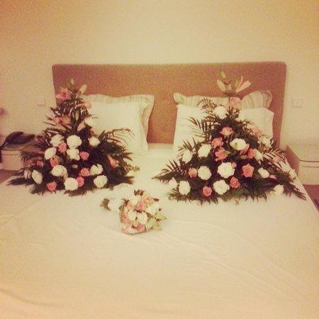 Atlantica Aegean Blue: my room the night of the wedding,beautiful♥