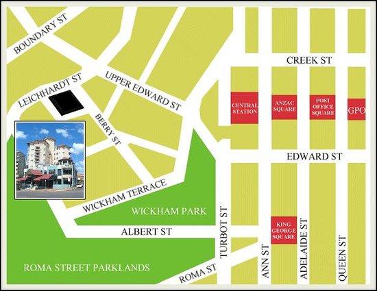 The Sedgebrook on Leichhardt: Map