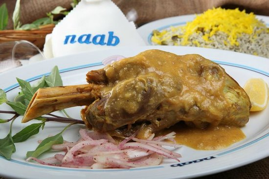 Naab: Naab's Lamshank with Dill Rice