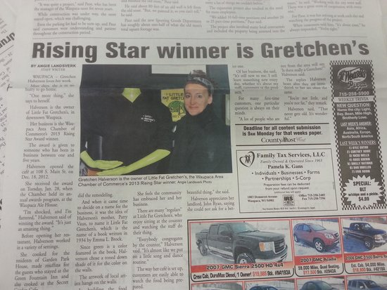 Little Fat Gretchen: local newspaper