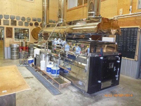 Sugarbush Hill Maple Farm: The beautiful wooden boiler.