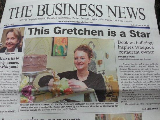 Little Fat Gretchen's: business news