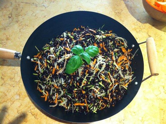 Metallo Pesante: Riso Venere granchio,zucchine e carote!
