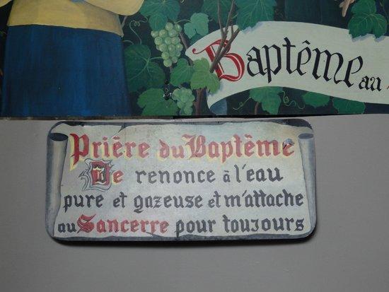 """Domaine de la Perrière: le baptême """"avec modération  """" 9 euros avec le diplôme"""