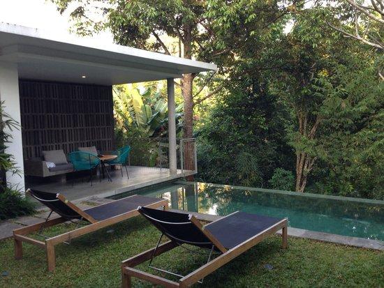 Aria Villas Ubud: Outdoor space