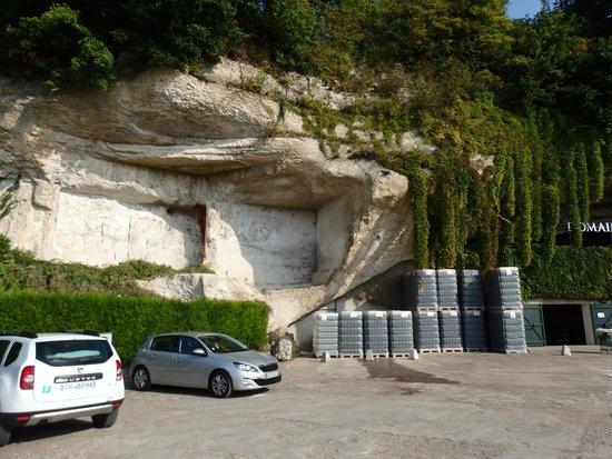 Domaine de la Perrière: le parking vue magnifique
