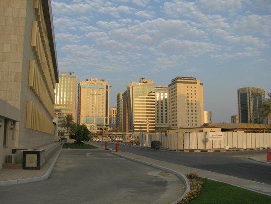 Lexington Gloria Hotel Doha : View to Gloria Hotel from Qatar National Bank