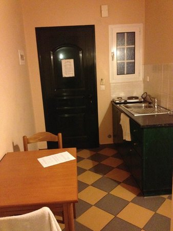 Legends Apartments: The kitchen in a 1 bedroom apartment
