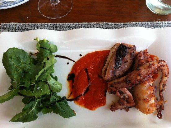 Restaurante Mahoh: poulpe à la plancha