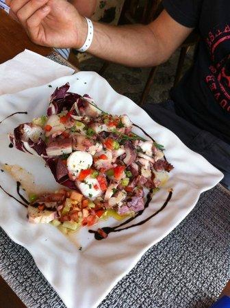 Restaurante Mahoh: salade de poulpe