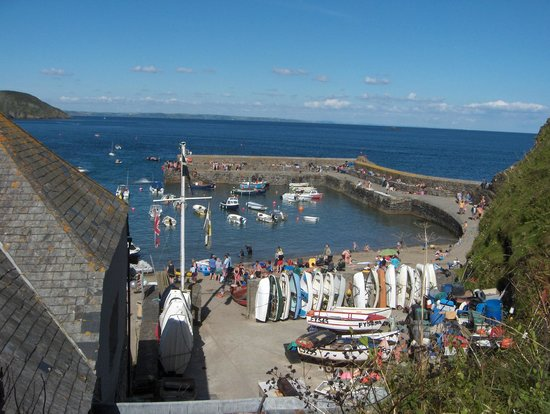 Coast Path Cafe: View from the cliff path by the Cliff Path Cafe, Gorran Haven
