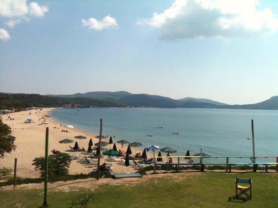 Hotel Despotiko: tristinika beach view from ethnic beach bar near the hotel.