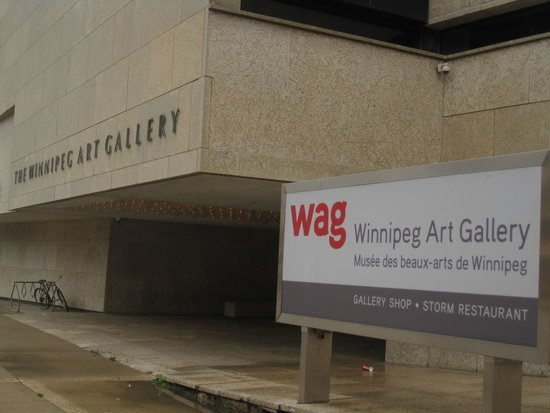 Front entrance to the Winnipeg Art Gallery