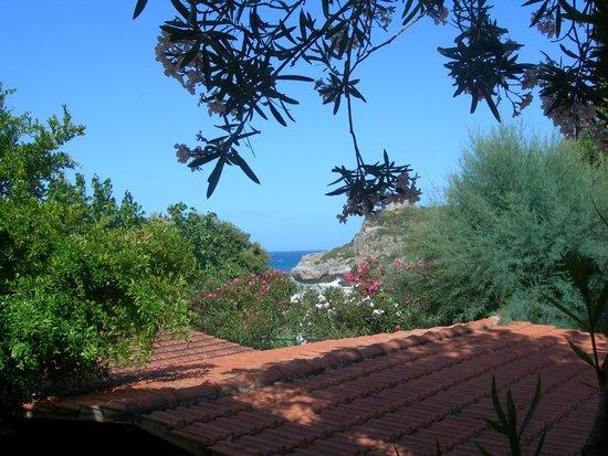 Villaggio La Barca: vista dalla casetta che abbiamo preso
