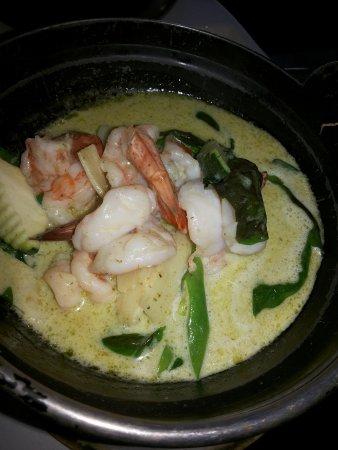 Thai Garden 2112: Gambas Curry Verde