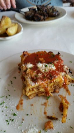 Greek Islands Taverna: Pastitsio.   Small portion and a bit dry.